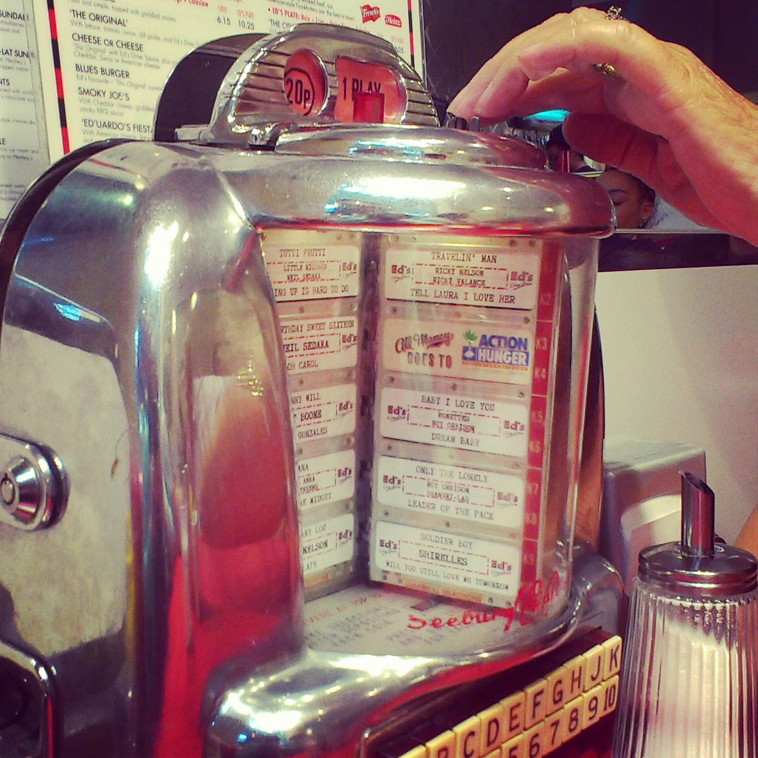 6pm - playing music at Ed's Easy Diner