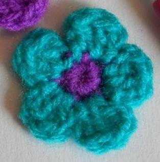 Querido Tejido Flor Sencilla De 5 Petalos A Crochet