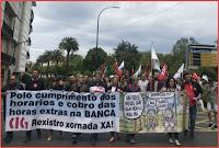 Manisfestación en Compostela o 22 de xuño de 2019 en demanda da implantación efectiva do rexistro de xornada no sector