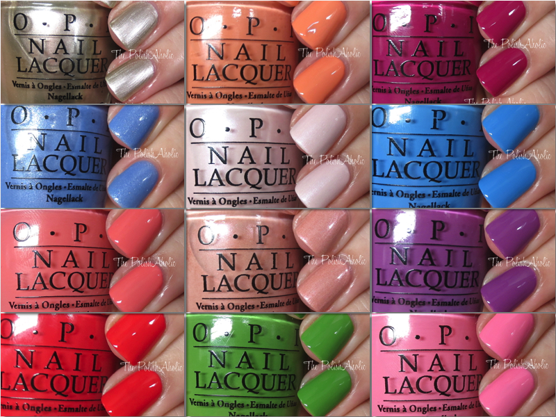 OPI Spring 2016 New Orleans Collection Swatches Review