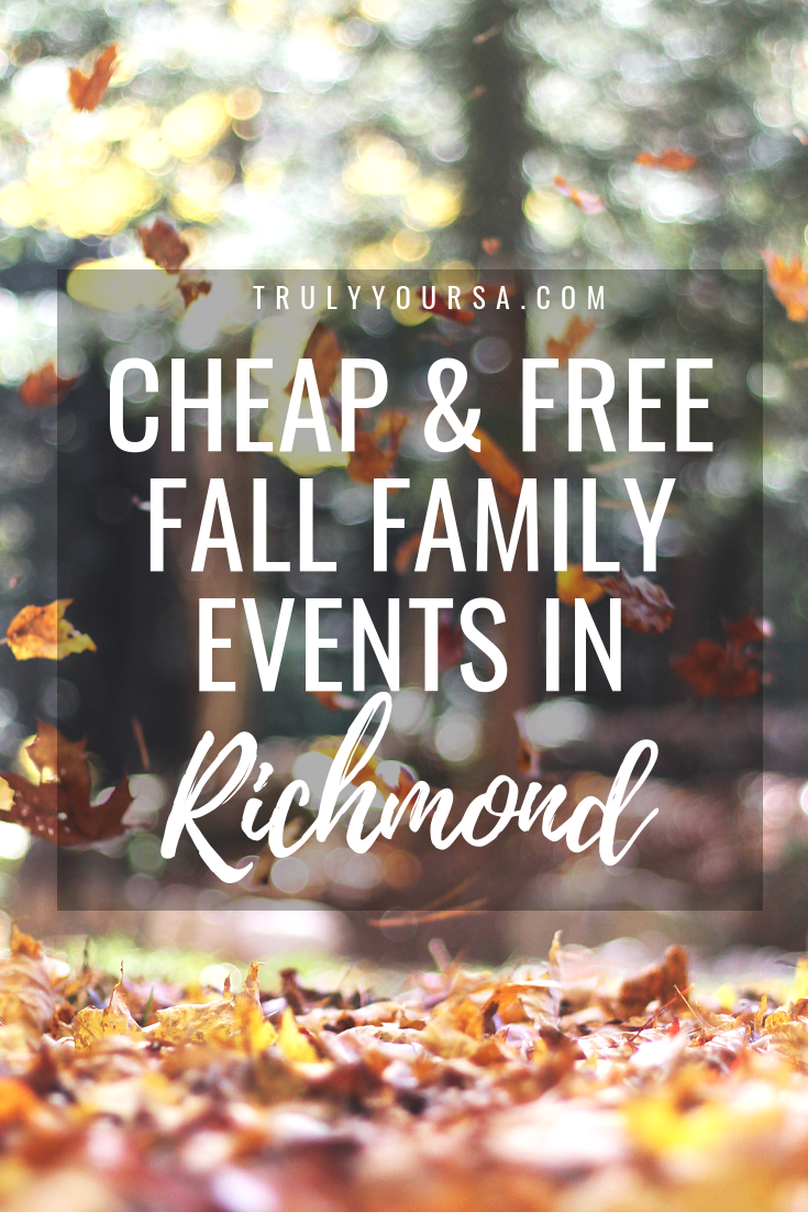 One of the main reasons I love living so close to Richmond is all of the events that go on all year long. TONS of these events are free and great for families looking to get out of the house this time of year. I've rounded up a few events for the rest of October that are sure to be a great time without sending your wallet screaming for the hills! #RVA #RVAevents #fallfun #fallevents
