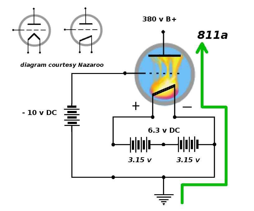 Golden Tubes: Heater Wiring (4) D C  Heater Supply