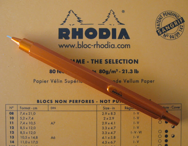rhodia script orange mechanical pencil