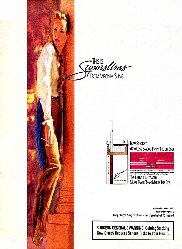 1972 Virginia Superslims advertisement