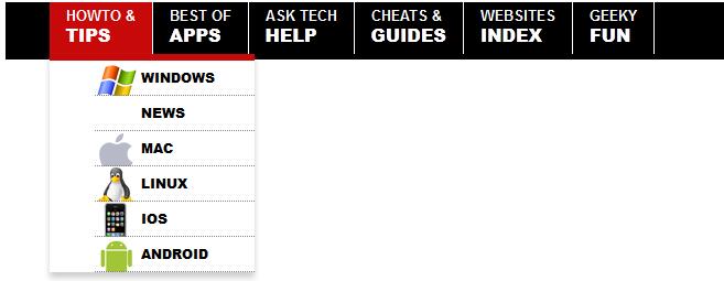 Advanced CSS Drop Down Navigation Menu With Link Logos
