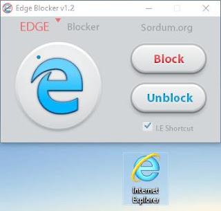 تطبيق Edge Blocker 1.2  للتحكم فى متصفح ويندوز 10