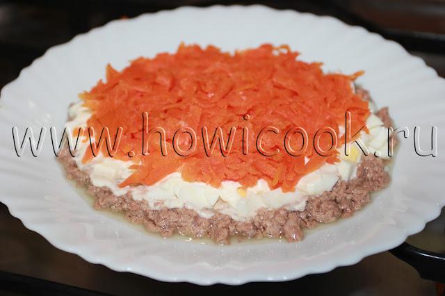 рецепт мимозы с печенью трески с пошаговыми фото