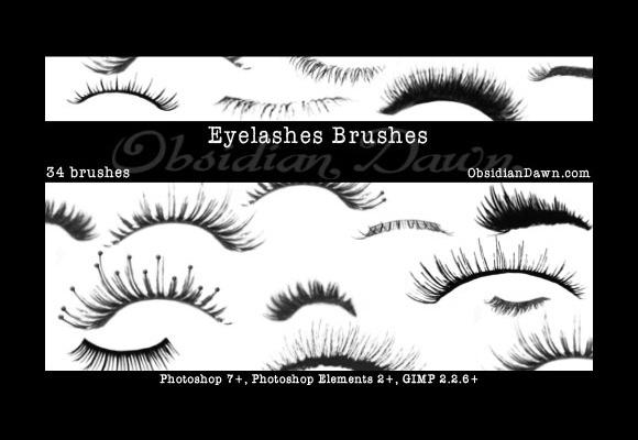 30 Sets of Eye Brushes for Photoshop   eyelash, iris, eye shadow