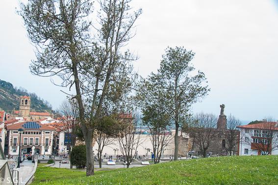 Panoramica de Getaria desde Museo Balenciaga