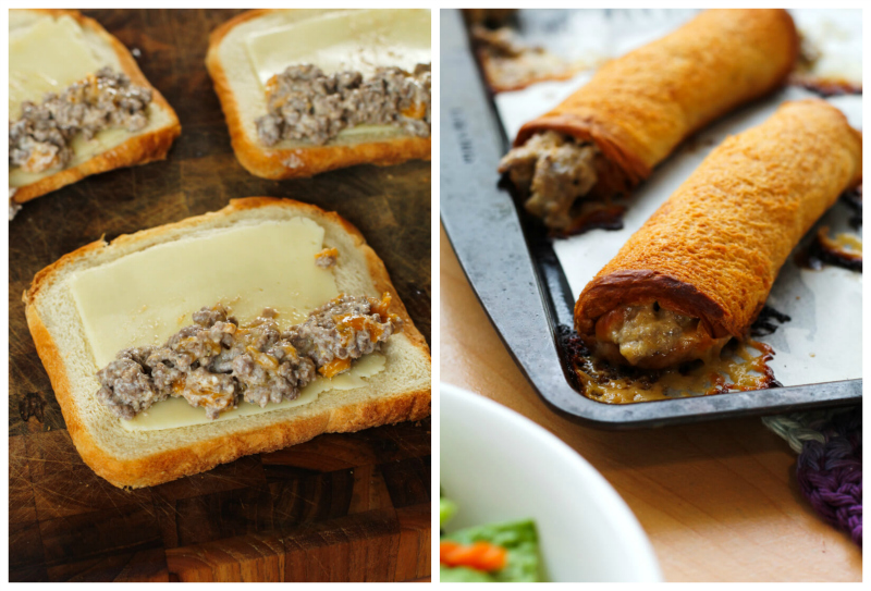 Cheeseburger Roll-Ups put a fun spin on burger night. They will make the whole family happy with their crisp, buttery outside and delicious cheeseburger filling! #groundbeefrecipes #easydinner
