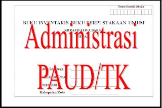 Buku Administrasi Kelas TK/PAUD 2016 Lengkap ~ BUKU INDUK PAUD TK