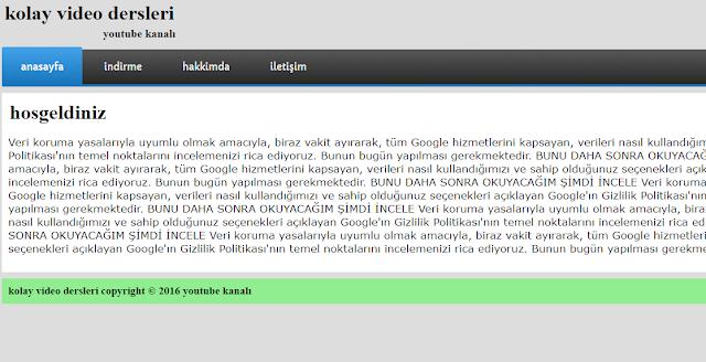 sıfırdan php ile web sitesi yapımı