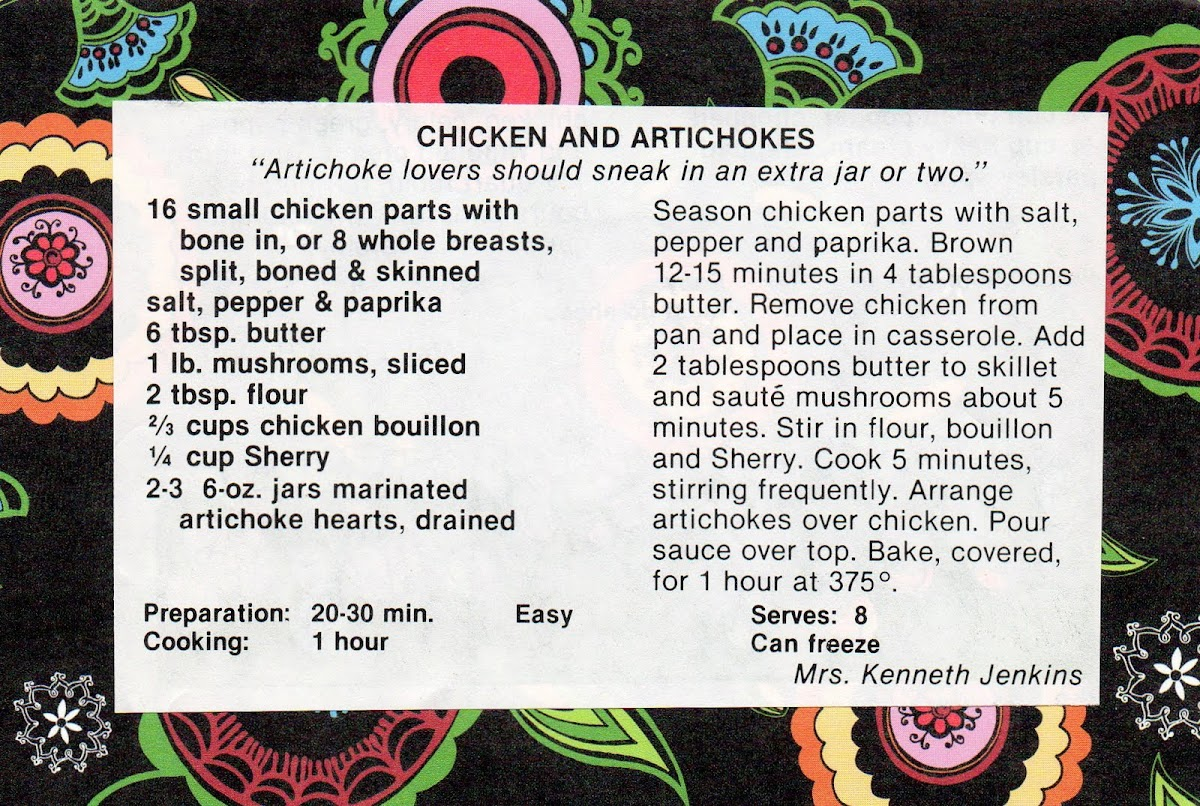 Chicken and Artichokes (quick recipe)