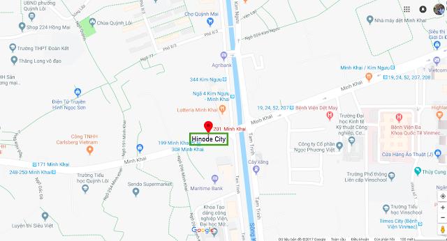Vị trí chung cư Hinode City 201 Minh Khai