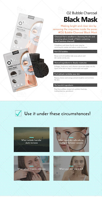 COSW O2 Bubble Charcoal Black Mask