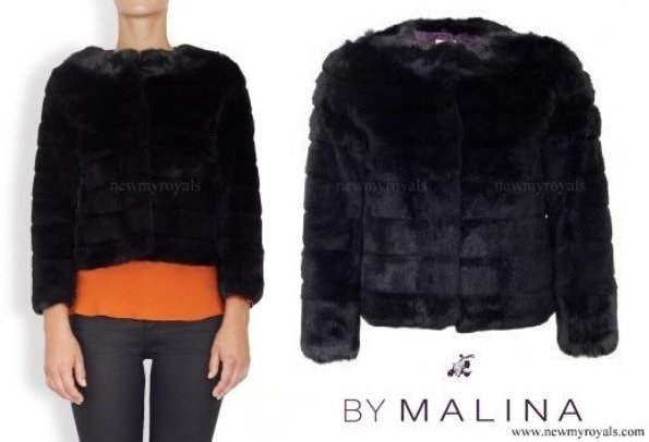 Princess Madeline wore By Malina Elsa Chinchilla and Fox fur jacket