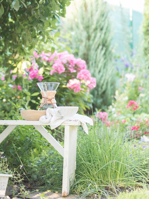 Morning coffee in the garden / Ranná káva na záhrade