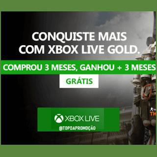 Compre Xbox Live Gold 3 meses e ganhe + 3 Meses. #XboxLiveGold #IssoÉSerGold  #xbox #gamer #gaming #grátis #game #console #XboxOneX #topdapromocao #GearsOfWar #MaisQueUmConsole