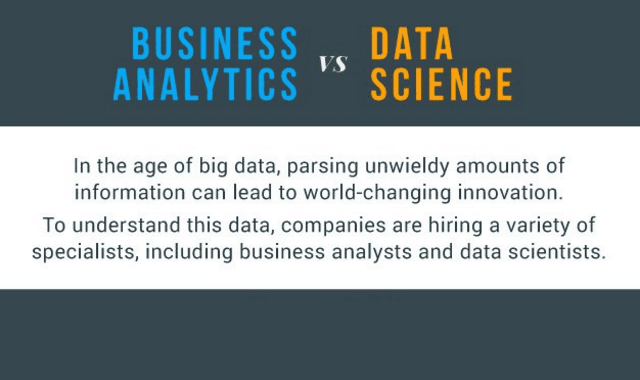Business Analytics Vs Data Science