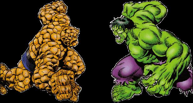 Hulk Vs Homem De Pedra Em Png Quero Imagem