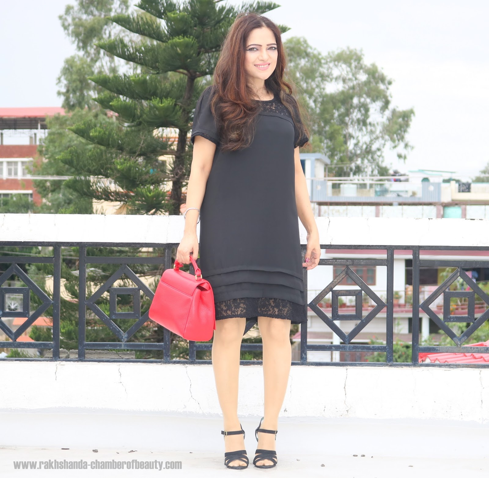 How to style an LBD, Everything5pounds.com dress, Lulu Guinness bags, Indian fashion blogger, Chamber of Beauty