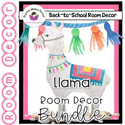Click here to see the complete llama and succulent room theme