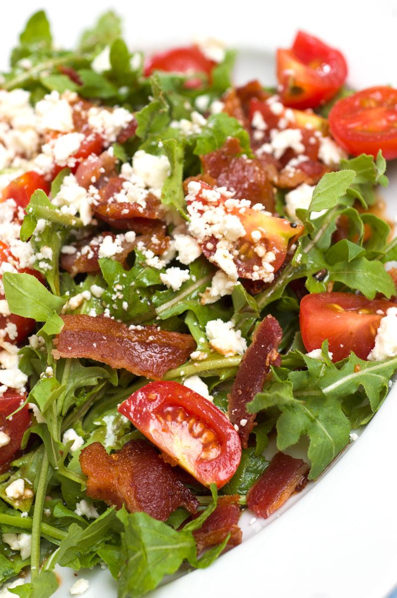 Sugar & Spice by Celeste: BLT Salad with Arugula, Feta and ...