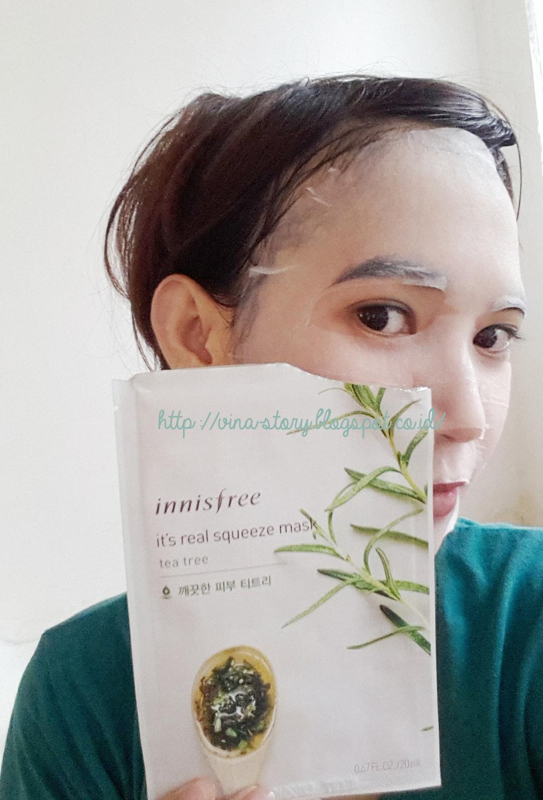 Vina Story Innisfree Its Real Squeeze Mask Masker Wajah Sheet Seperti Kalian Tahu Tea Tree Identik Dikenal Sebagai Anti Acne Dan Dapat Membantu Mengontrol Minyak Berlebih Di Karena Tipe Kulitku Berminyak