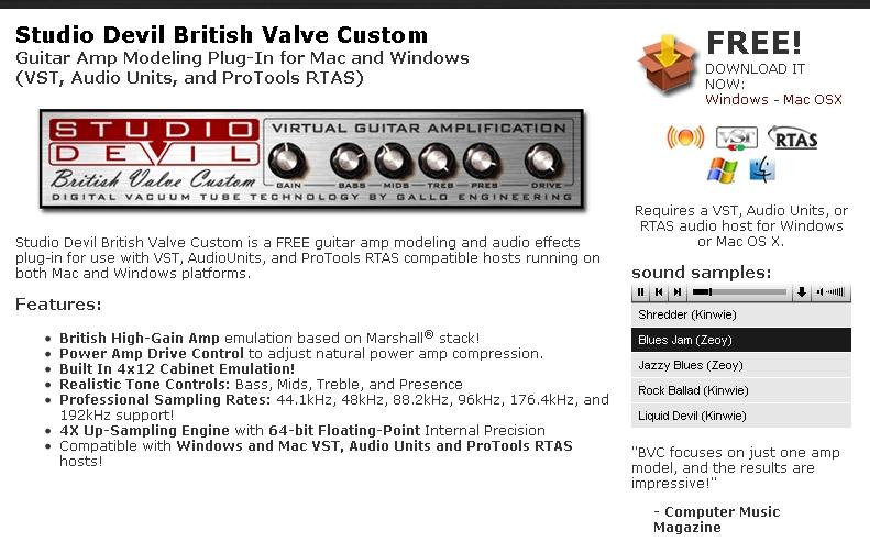 Virtual Guitar Vst Free