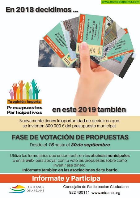 El Ayuntamiento de Los Llanos de Aridane convoca a los vecinos a votar los proyectos de los presupuestos participativos