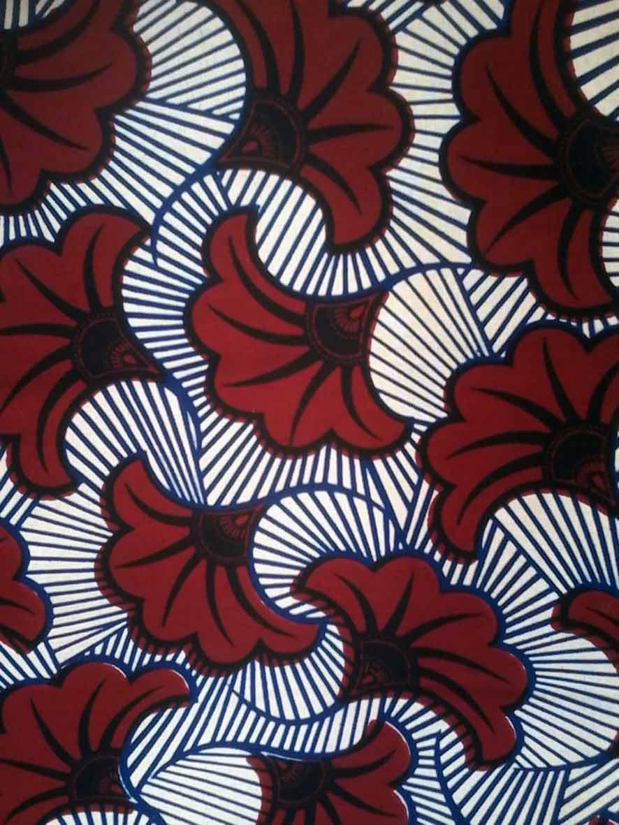 Pagne Africain Fleur De Mariage