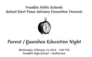 School Start Times Parent/Guardian Education Night - Feb 13