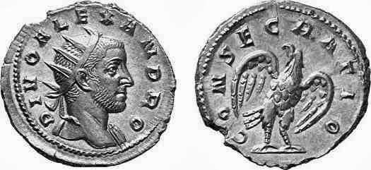 Antoniniano de Trajano Decio en homenaje a Alejandro Severo - serie de los divi