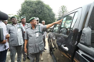 Photos: Customs intercepts 27 Toyota Hilux vans worth N432m in Abuja