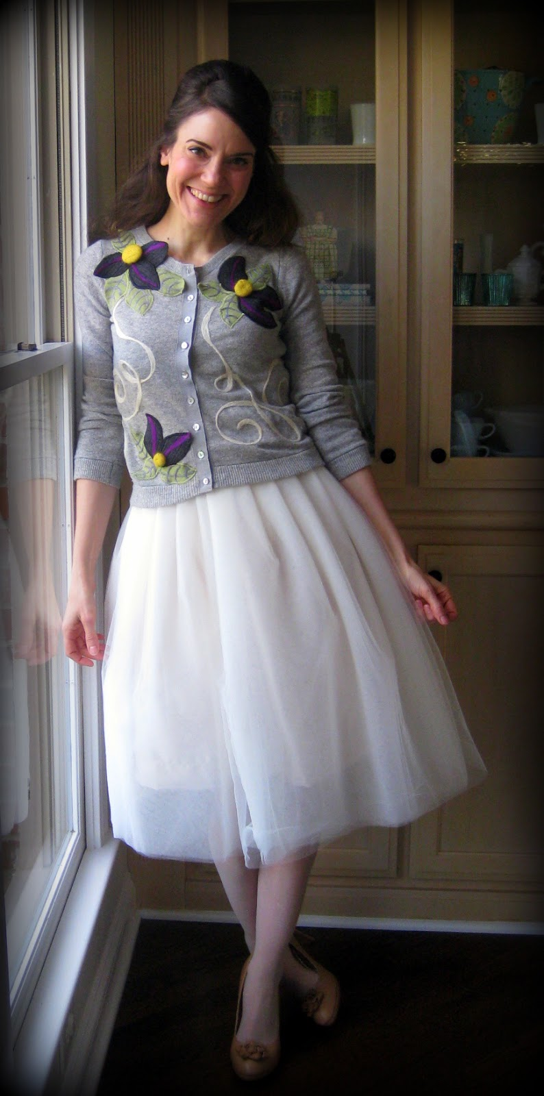 Cassie Stephens: DIY: Anthro-Inspired Sweater and Skirt