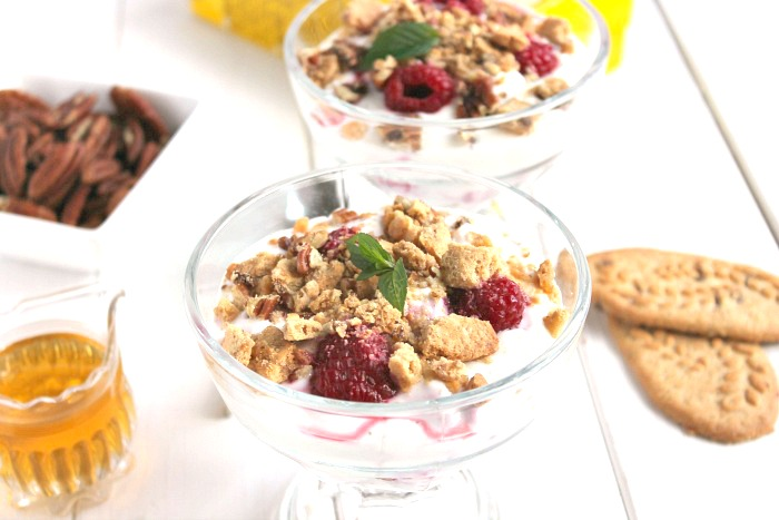 Raspberry Fool with belVita Honey and Nut Crunch
