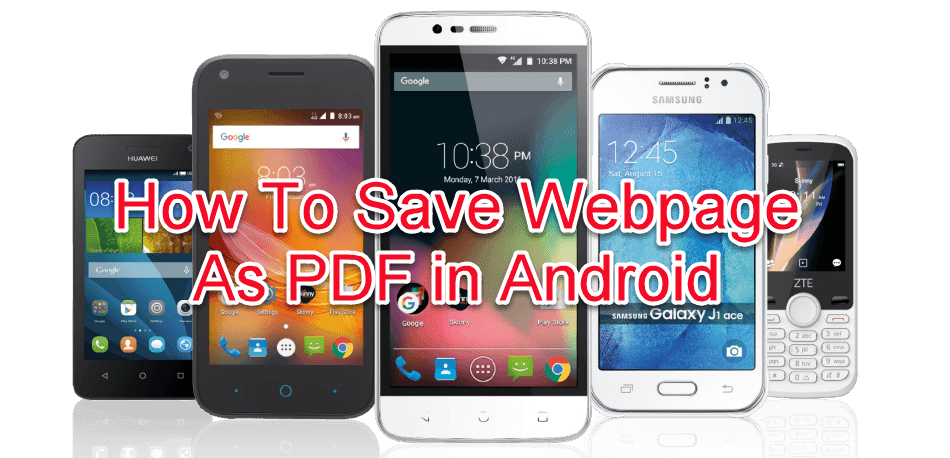 How to save webpage as pdf in android
