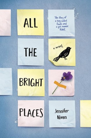 all the bright places book, young adult books, best young adult books, ya books
