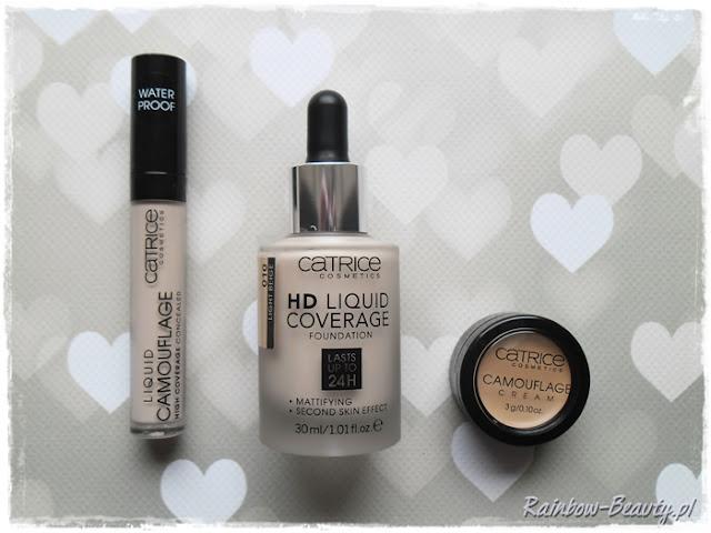 catrice liquid camouflage 010 hd coverage podkład light beige porcellain blog opinie kosmetyki blogerek