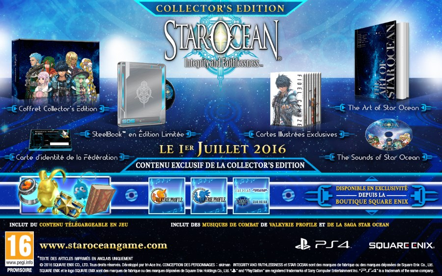 STAR OCEAN : Integrity and Faithlessness Collector's Edition