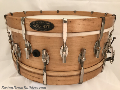 Vintage Geo B. Stone % Son Master-Model Snare Drum ca. mid - late 1920s