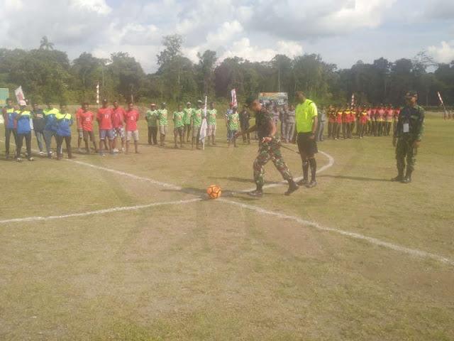 Turnamen Dan Yonif 734 Cup Pererat Persaudaraan dan Junjung Tinggi Sportifitas