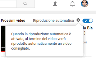 Come interrompere riproduzione automatica video youtube