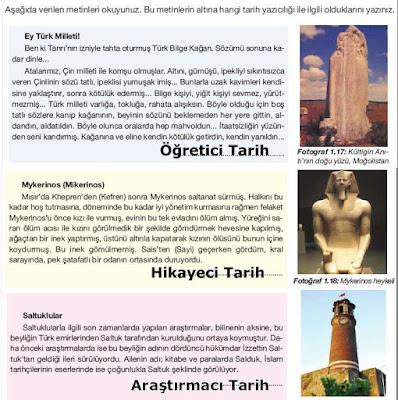 9. Sınıf Tarih Dersi Ekoyay yayınları Cevapları Sayfa 31