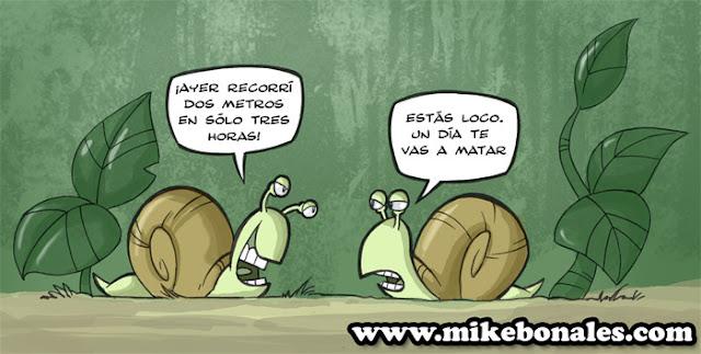caricatura de caracoles· conlosochosentidos.es