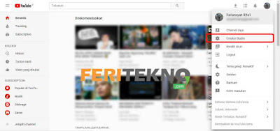 menyembunyikan subriber di youtube - feri tekno