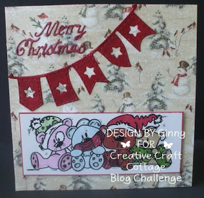 perfect christmas premium pad the image is bear winter topper courtesy of our sponsor bugaboo stamps coloured with promarkers demiawaking bunting banner - 7 11 Open On Christmas