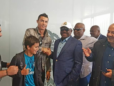 Photos: Governor Wike meets Cristano Ronaldo, Sergio Ramos; to set up Real Madrid Football Academy in Rivers State