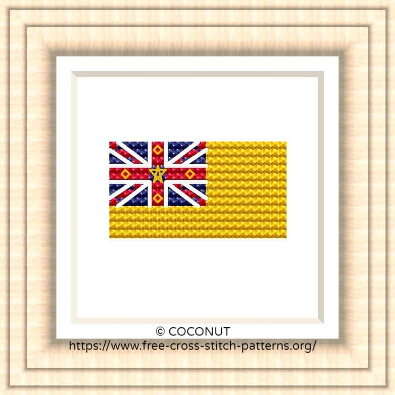 NATIONAL FLAG OF NIUE CROSS STITCH CHART
