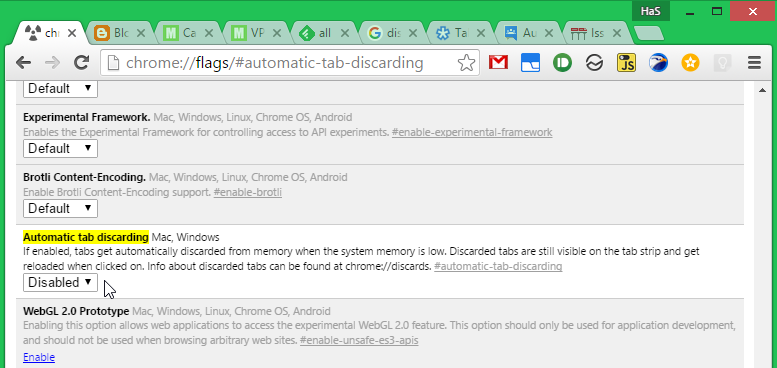 Automatic Tab Discarding
